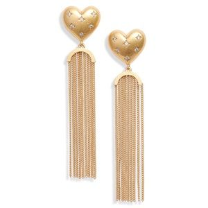 Kate Spade My Precious Heart Fringe Earrings